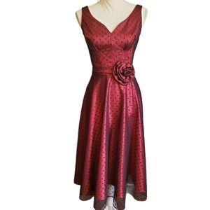 EUC Stop Staring Polka Dot Overlay Pin Up Dress